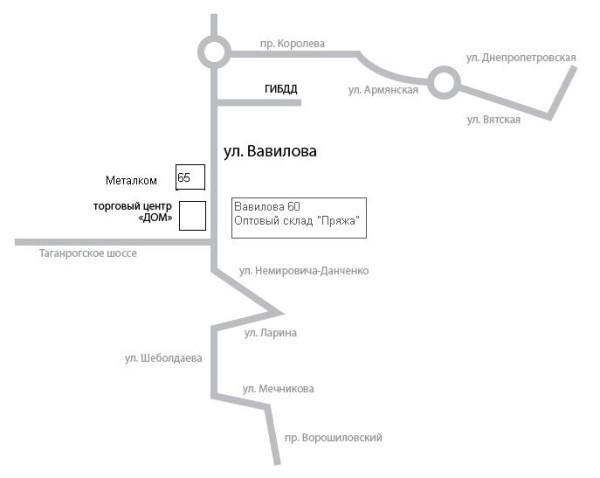 Вавилова, д.60 , схема проезда